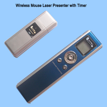 wireless laser presenter with timer